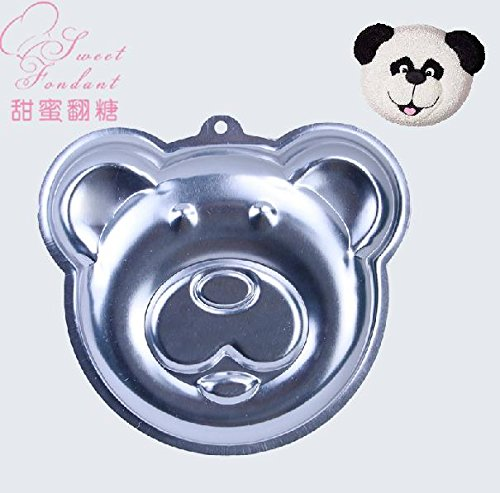 Aluminum Alloy Panda Head Cake Moulds Pan Dish Tin Birthday Party Cake Decorating Tools (Panda Pan compare prices)