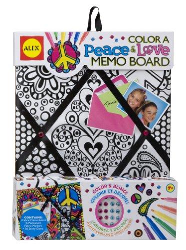 ALEX® Color a Memo Board - Peace and Love