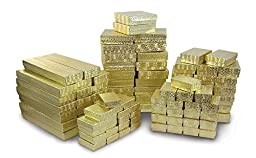 Jewelry Boxes Assortment Gold (Package of 100)
