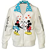 Disney Vintage Art Women's Hoodie Jacket: Kissin' Mickey And Minnie