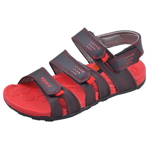 Sparx-Men-Casual-Wear-Black-and-Red-Coloured-Floaters-Size-SS434-BlackRed