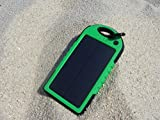Expower(R) Solar Panel waterproof shockproof Charger 5000mAh Portable Charger Backup External Battery Power Pack for iPhone 5S 5C 5 4S 4 iPad Air Other iPads iPods(Apple Adapters not Included) Samsung Galaxy S4 S3 S2 Note 3 Note 2 Most Kinds of Android Smart Phones and More Other Devices (Green)
