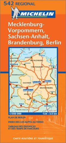 Michelin Germany Northeast - Mecklenburg-Vorpommern, Sachsen-Anhalf, Brandenburg, Berlin Map No. 542 (French Edition)