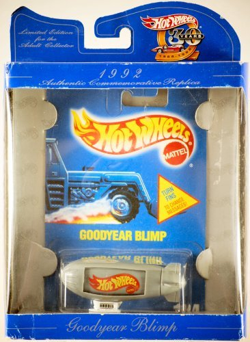 Hot Wheels 30 years AUTHENTIC COMMEMORATIVE REPLICA limited edition 1992 gray GOODYEAR BLIMP 1:64 Scale Die-cast Collectible Car - 1