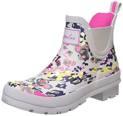Joules Women's Wellibob Rain Boot, Silver Scatter, 5 M US (Silver Blue Rain Boots compare prices)
