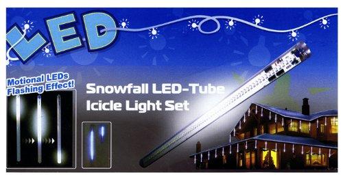 SNOWFALL EFFECT LED CHRISTMAS LIGHT SET  10 X 36CM LONG LIGHT TUBES FOR OUTSIDE DECORATIONS - THE VERY LATEST INNOVATION IN CHRISTMAS LIGHTING