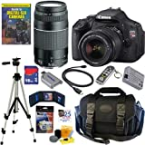 Canon EOS Rebel T3i 18 MP CMOS Digital SLR Camera with EF-S 18-55mm f 3.5-5.6 IS II Zoom Lens & EF 75-300mm f 4-5.6 III Telephoto Zoom Lens + 11pc Bundle 16GB Deluxe Accessory Kit