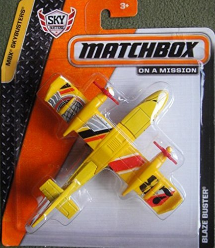 MATCHBOX SKYBUSTERS SERIES YELLOW BLAZE BUSTER DIE-CAST AIRPLANE - 1