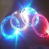 Smrroy er 5sd Eine Ramdon Toy Gadget Geschenk Acryl Flash-LED-Leucht-Hand Ringe Armband