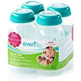 Evenflo Milk Collection Bottles,5oz,(4-Pack)