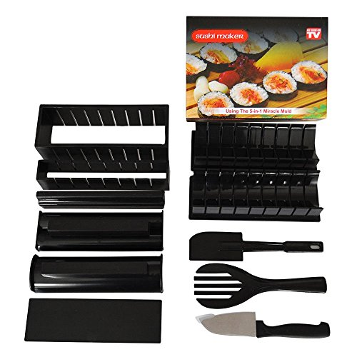 Sushi Making Kit by Sushi Maker - 11 Piece Set - Beginner's Step-by-Step Instructions and Free Bonus Top 5 Sushi Roll eBook