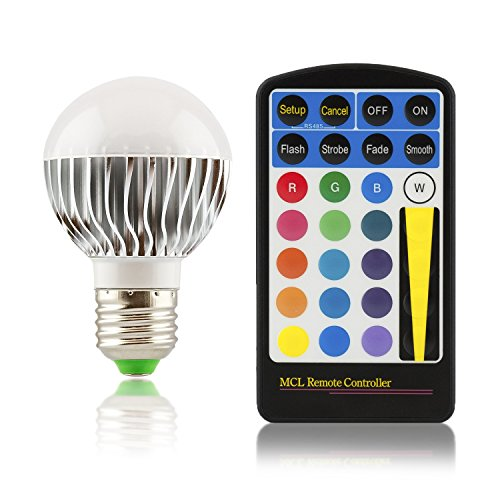 E27-LED-Farbwechsellampe-klein-RGB-multicolor-mit-Fernbedienung-5W-Watt-dimmbar-120-Abstrahlwinkel-Lampe-Strahler-Original-Qualilux
