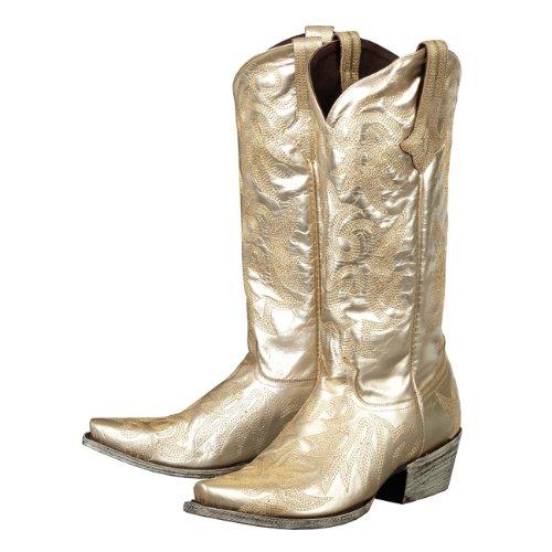 lane boots wild ginger gold metallic leather fashion