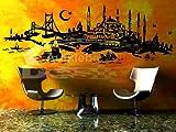 Türkiye Türkei ISTANBUL SKYLINE in versch. Gr. und 27 Farben – ca. 206 x 71 cm (bxh) – SCHWARZ