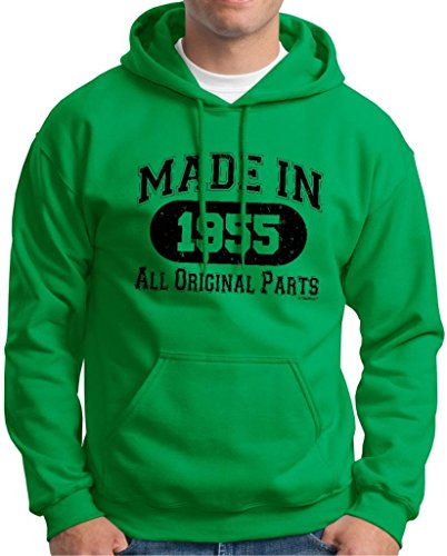 60Th Birthday Gift Made 1955 Original Distressed Hoodie Sweatshirt 3Xl Green