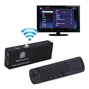 HDE® MK808B Android 4.1 Mini PC Dual Core Bluetooth 4GB TV Streaming Box w/ RC12 Wireless Air Fly Remote Keyboard Mouse