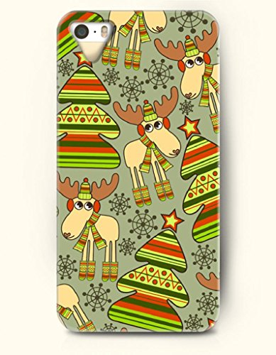 Oofit Phone Case Design With Well-Dressed Reindeer And Christmas Tree For Apple Iphone 5 5S 5G front-1002597