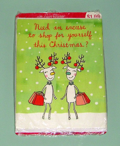 4 American Greetings Gift Card Holder with envelopes - Reindeers - Need an excuse to shop for yourself this Christmas?