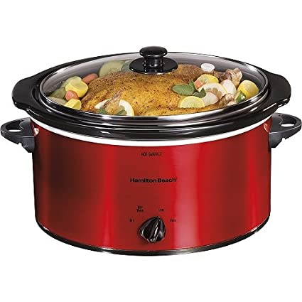 Hamilton Beach 5 Quart Portable Oval Slow Cooker