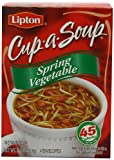 Lipton CupaSoup, Spring Vegetable, 4Count 1.9Ounce Boxes (Pack of 12)