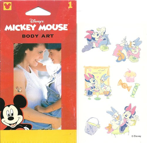 Disney Minnie Mouse and Daisy Duck Body Art Temporary Tattoo
