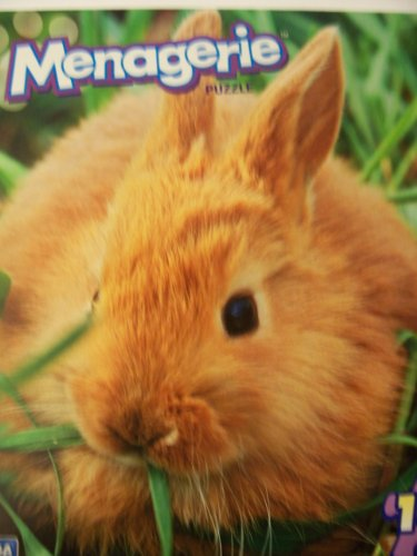 Menagerie 100 Piece Animal Puzzle ~ Brown Bunny