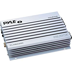 Pyle PLMRA200 400 Watt Bridgeable 2 Channel Waterproof Marine Car Amplifier by Pyle