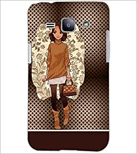 PrintDhaba Smart Girl D-1359 Back Case Cover for SAMSUNG GALAXY J1 (Multi-Coloured)