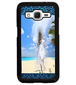 PrintDhaba Stranded Girl D-2494 Back Case Cover for SAMSUNG GALAXY CORE PRIME (Multi-Coloured)