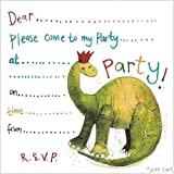 Dinosaur Party Invitation Card Pack by Alex Clark