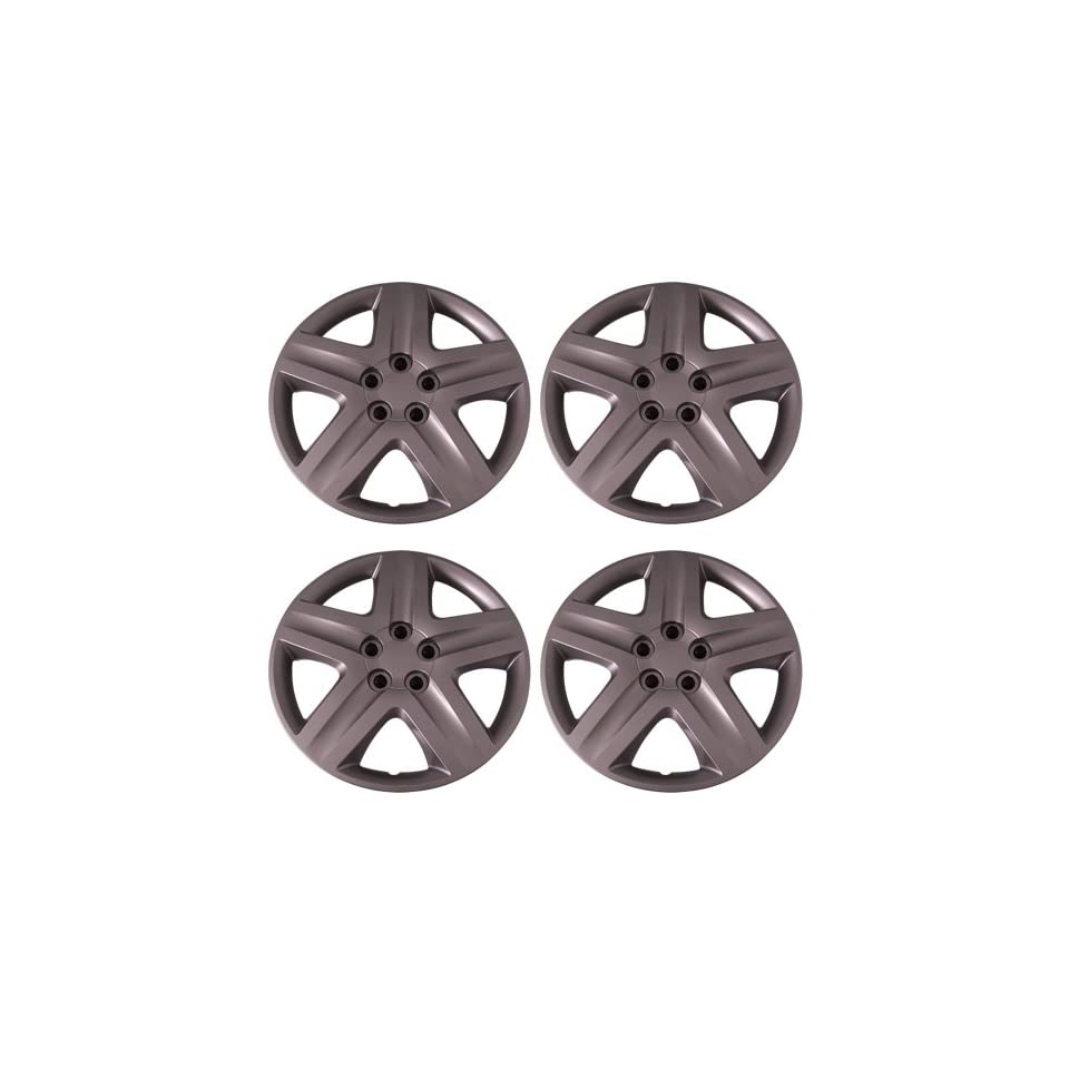 Set of 4 Silver 17 Inch Aftermarket Replacement Hubcaps with Metal Clip Retention System   Part Number IWC431/17S