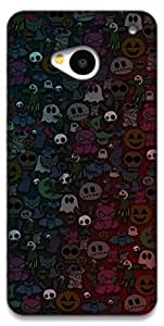 The Racoon Grip Halloween hard plastic printed back case / cover for HTC One 802D
