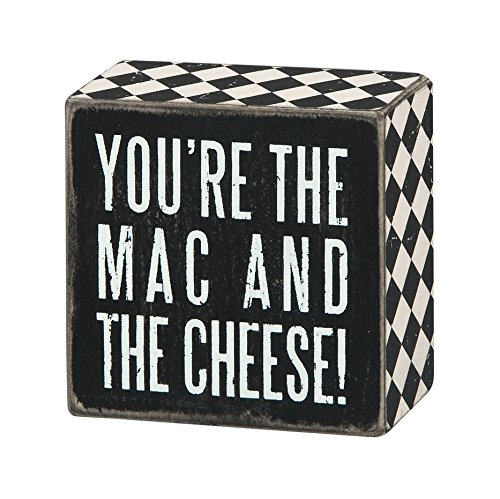 Primitives by Kathy Box Sign, Mac & Cheese, 3 by 3-Inch (Mac And Cheese Accessories compare prices)