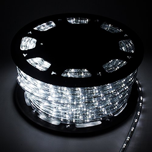 Can You Cut Outdoor String Lights: WALCUT Waterproof Crystal Flexible Clear PVC 110V LED Rope