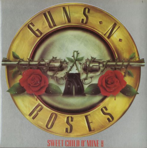 Sweet Child O Mine (1988 original UK 7 single featuring the Edit/Remix plus Out Ta Get Me great GNR logo picture sleeve GEF43)