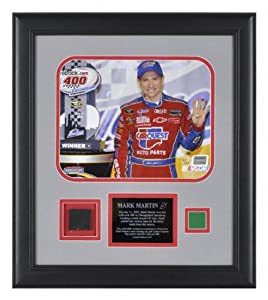 Mounted Memories Mark Martin 2009 LifeLock 400 Framed 8x10 Photo w Green Flag Race... by Mounted Memories