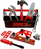 21 Piece Workshop Tool Box Toy Set for Kids