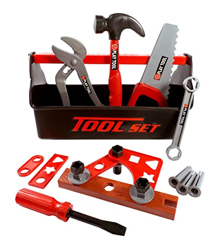 21 Piece Workshop Tool Box Toy Set for Kids (Kid Tool Set With Toolbox compare prices)