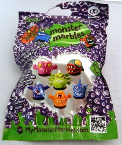 Monster Marbles Series 1.1 (2 Monster Marbles Included Plus Chalk, Games) by Wow Wee