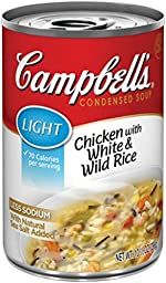 Campbell\'s Light Condensed Soup, Chicken with White & Wild Rice, 10.5 Ounce (Pack of 12)