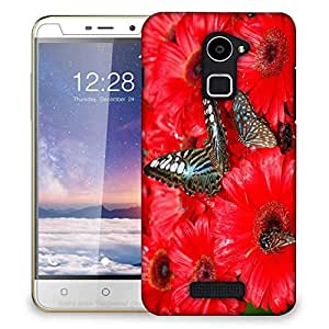 Snoogg Brown Butterfly Designer Protective Phone Back Case Cover For Coolpad Note 3 Lite