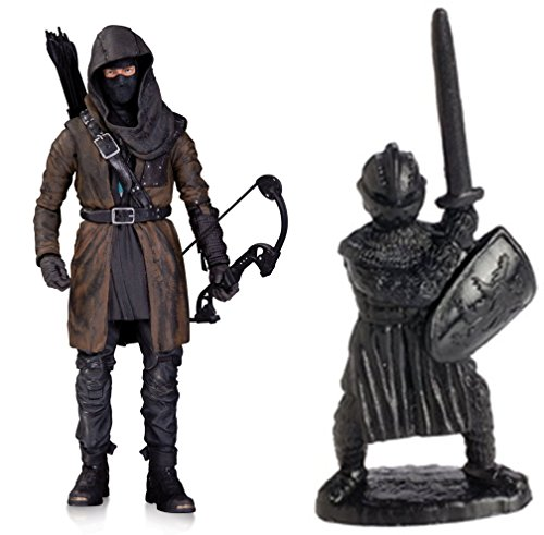 Super Hero Arrow (TV): The Dark Archer Action Figure & Free Guardian Knights Action Figure Set 36-Piece, Colors may vary Toys