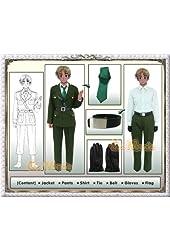 Hetalia - UK British Military Cosplay Costume [Deluxe Set]