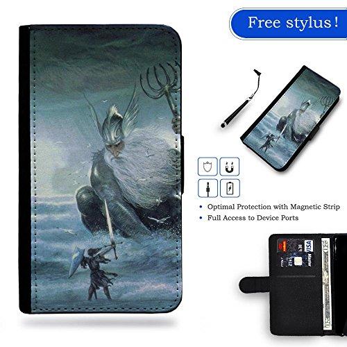 Nuovo Pelle Portafoglio della copertura della cassa borsa Custodia protettiva Samsung Galaxy S6 // Fantasy Mythopoeic Artwork Digital Fantasy Mythopoeic Artwork Digital Gift Shopping