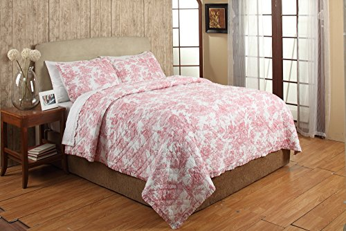 Toile King Bedding: Discount French Toile Quilt & Comforter Sets