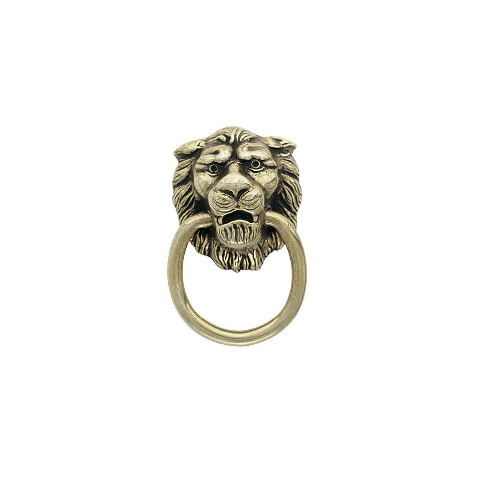 Amerock Traditional Classics Lion Head Ring Pulls   Antiqued Brass