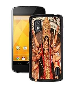 Fuson 2D Printed Lord Durga Designer Back Case Cover for LG Google Nexus 4 - D507