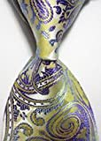 Jacob AleX #47192 Costume Paisley Purple Beige JACQUARD WOVEN Necktie
