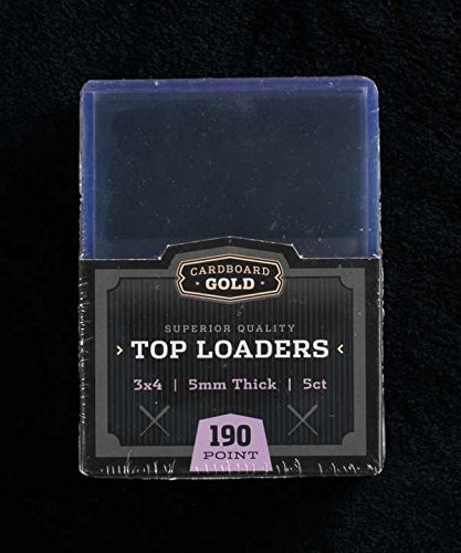 "1x 5ct CBG 190 pt 5mm Cardboard Gold 3"" x 4"" PRO Toploaders KEEPS THICKER & JERSEY CARDS ULTRA PROTECTED - 1"