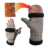Heat Factory Women's Fold-Back Ragg Wool Gloves for use with Heat Factory Hand Warmers